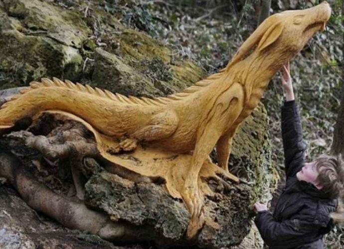 Скульптуры из дерева в Северном Йоркшире