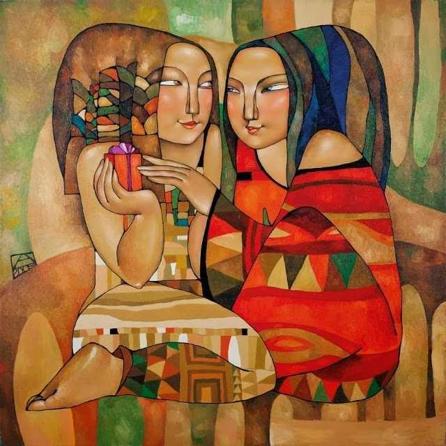 Талантливая казахская художница. Акжана Абдалиева 1