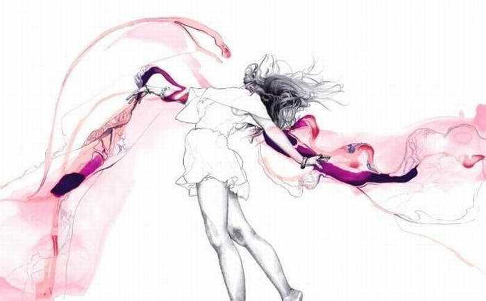 Lucy Evans. Рисунки акварелью и карандашом 141
