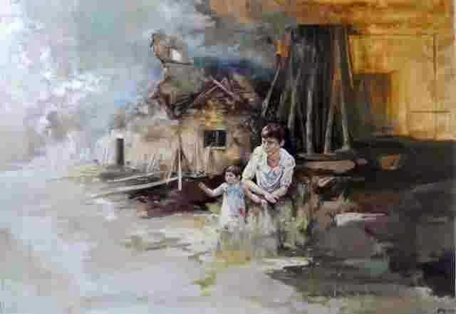 Французская художница. Magdalena Lamri 1