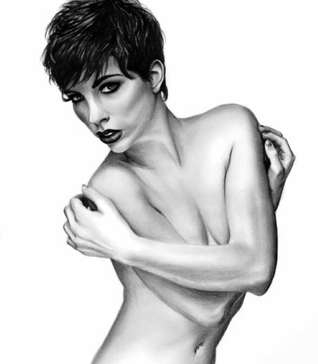 Эротические рисунки карандашом. Sara Stachowiak 16+ 48
