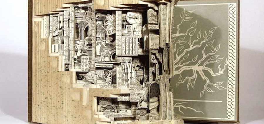 Скульптуры из книг. Brian Dettmer