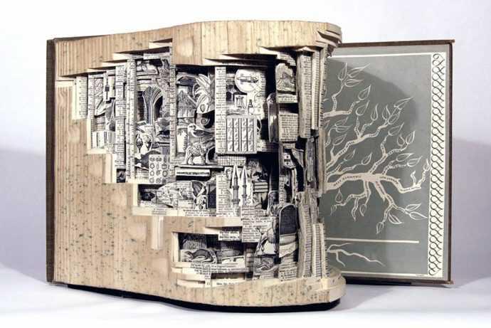 Скульптуры из книг. Brian Dettmer 184