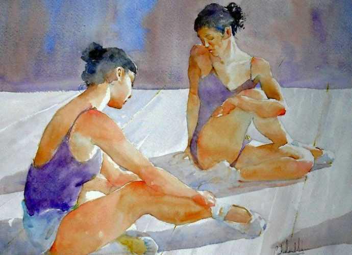 Акварельные рисунки. Carlos Leon-Salazar 43