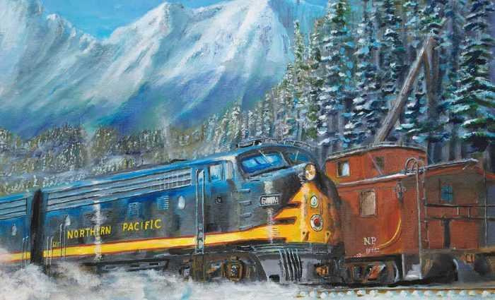 Железнодорожные картины. Christopher Jenkins 1