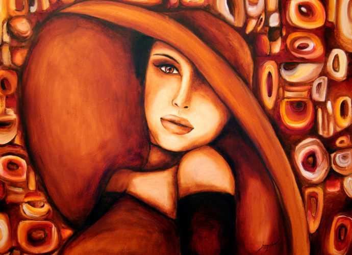 Оранжево-красные портреты. Elzbieta Brozek 464