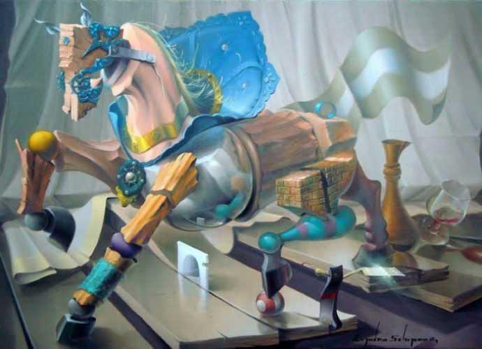 Современные художники Бразилии. Evandro Schiavone 380