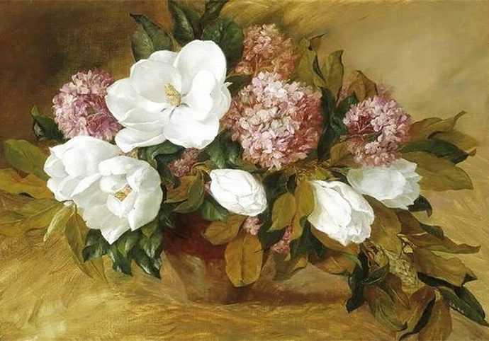 Цветочные натюрморты. Joe Anna Arnett 68