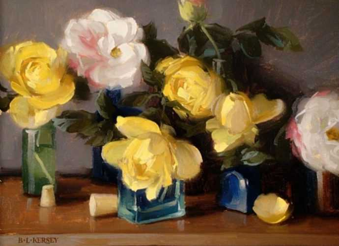 Рисунки цветов. Laurie Kersey 241