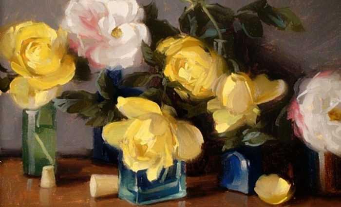 Рисунки цветов. Laurie Kersey 1