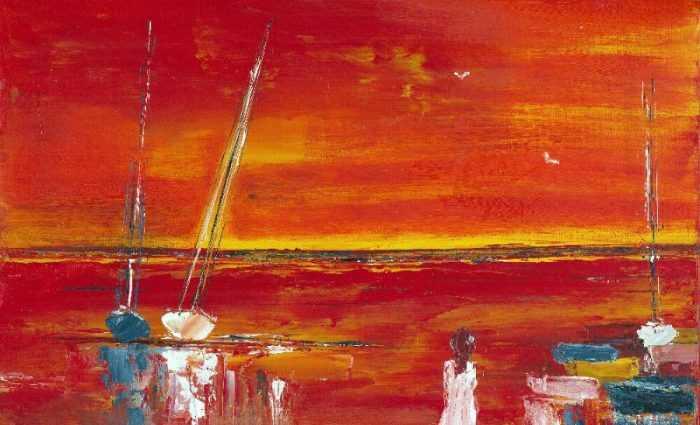 Вода и небо. Французский художник. Michel Saint Luc 1