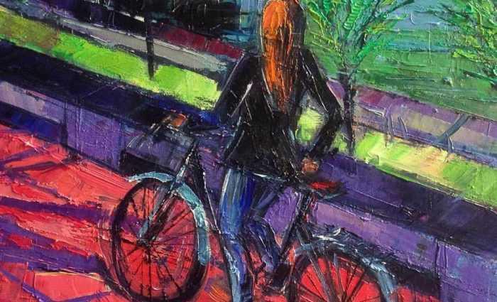 Яркие и динамичные цвета. Французский художник. Mona Edulesco 1
