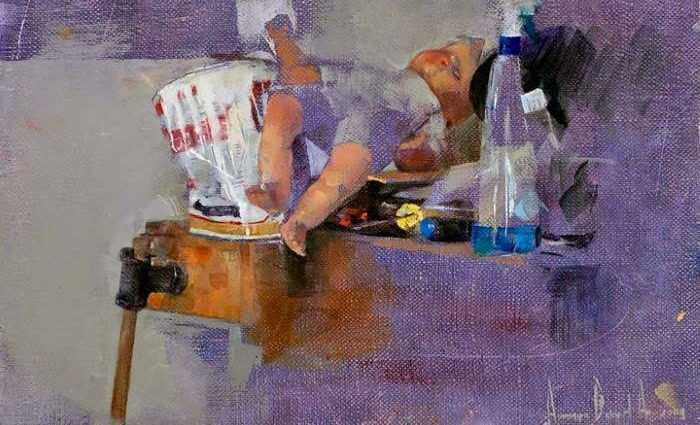 Современный израильский художник. Amnon David Ar 1