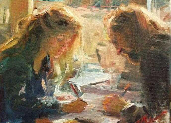 Американский художник-импрессионист. F. Michael Wood 101