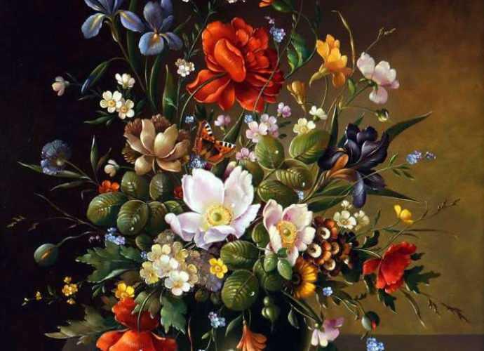 Цветочные натюрморты. Florian Grass 119
