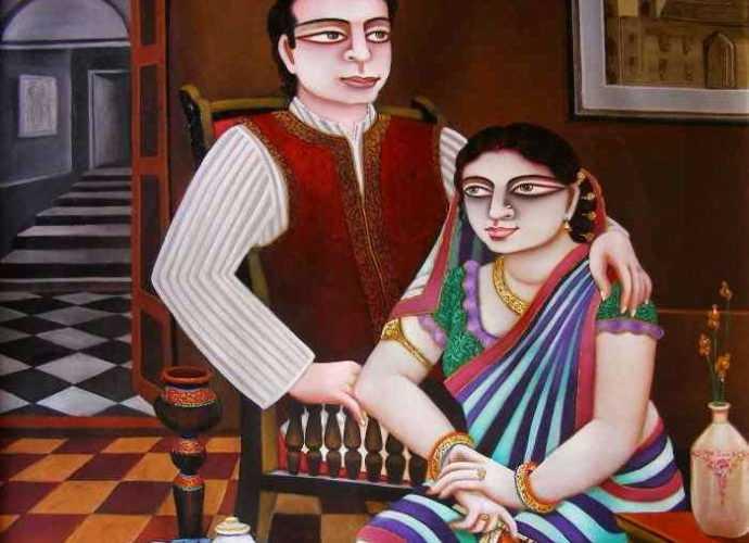 Индийский художник. Gautam Mukherjii 179