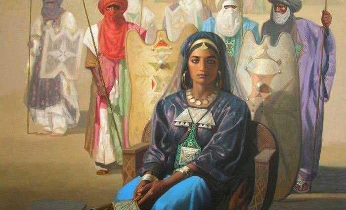 Алжирский художник. Hocine Ziani 1