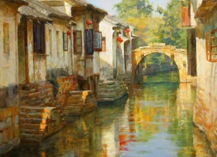 Китайский художник. Jie Wei Zhou 385
