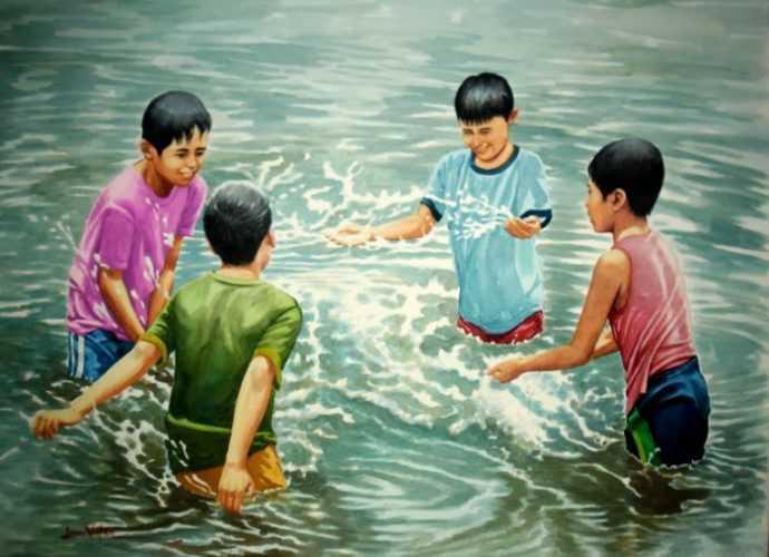 Филиппинский художник-реалист. Jose Vistan 128