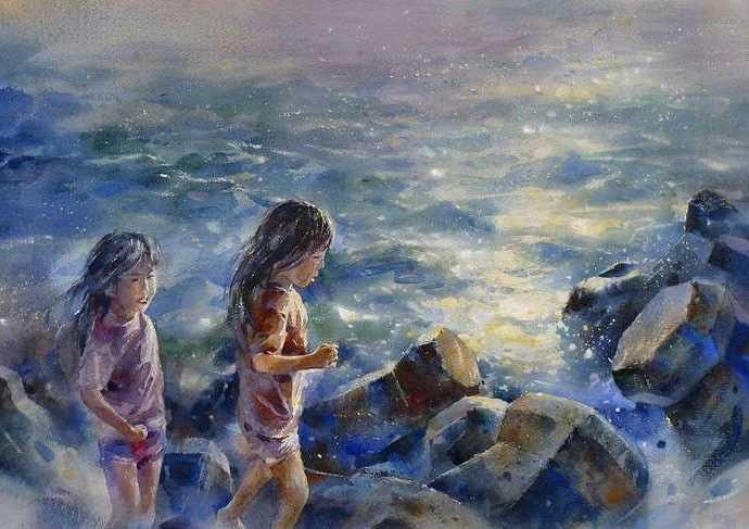 Акварельная живопись. Lin Ching Che 56