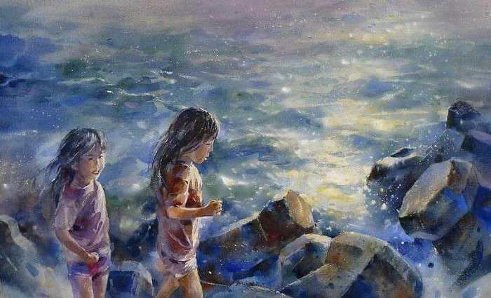 Акварельная живопись. Lin Ching Che 1