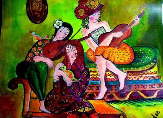 Грузинская художница. Maia Kvelidze 40