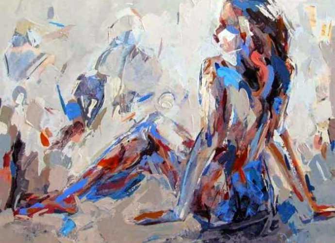 Иранский художник-абстракционист. Majid Eskandari 95