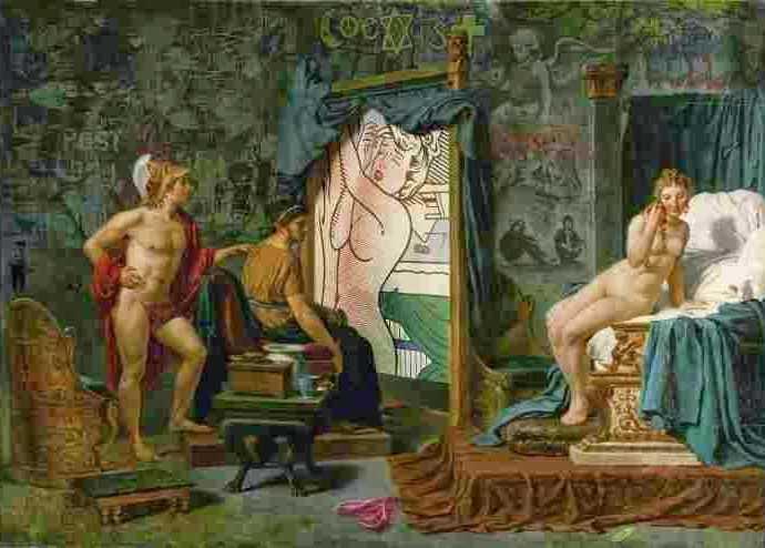 Картины-пародии. Marco Battaglini 3