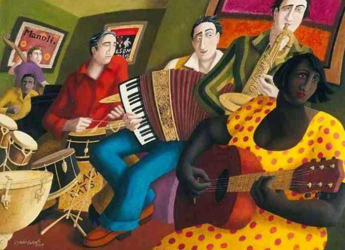 Картины масляной пастелью. Ophelia Redpath 116