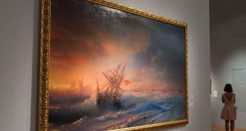 Выставка картин Айвазовского в Москве 1