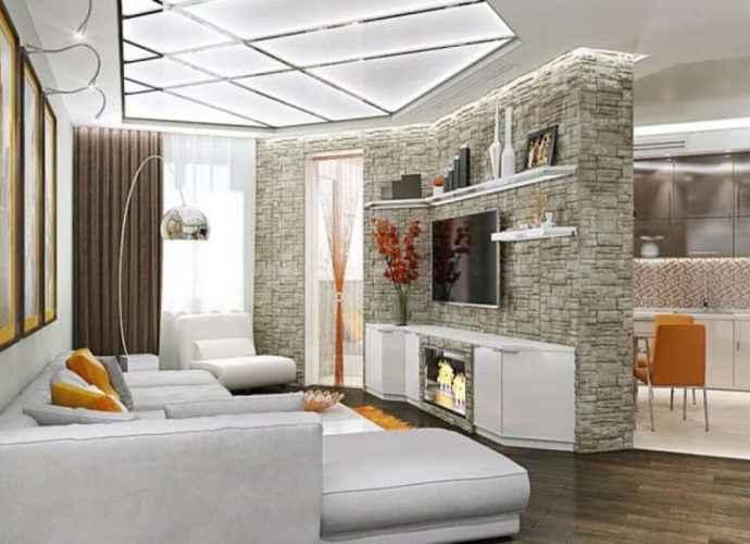 Нестандартные решения в дизайне интерьера двухкомнатной квартиры 376