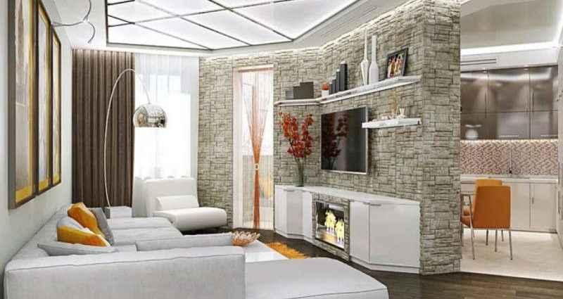 Нестандартные решения в дизайне интерьера двухкомнатной квартиры 1