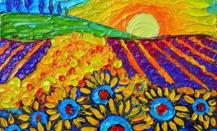 Яркие цвета и выразительные текстуры. Ana Maria Edulescu 1