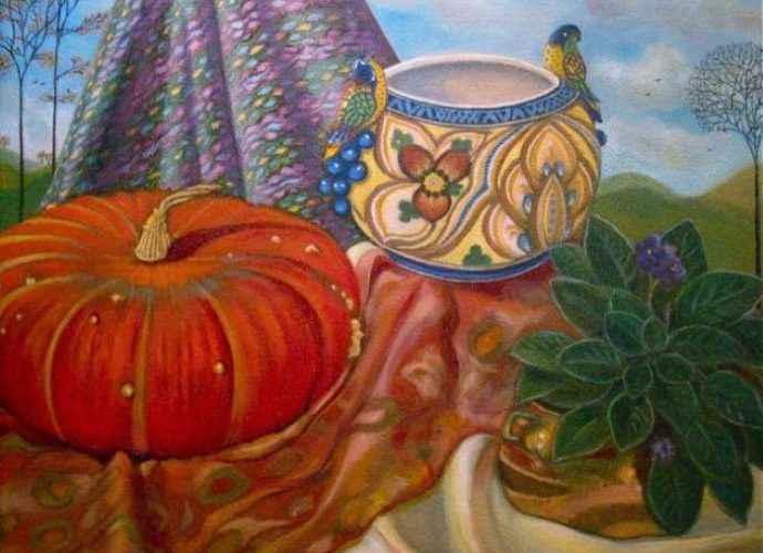 В традиционной технике масляной живописи. Carla Strozzieri 140