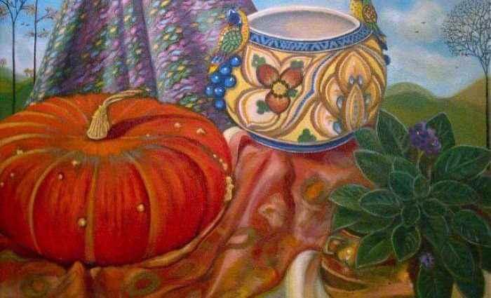 В традиционной технике масляной живописи. Carla Strozzieri 1