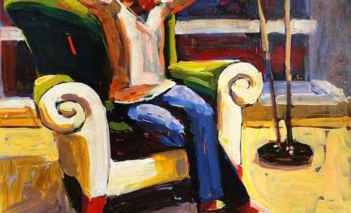 Сильные и красочные картины. Carole Wade 1