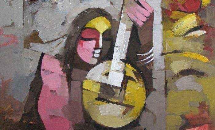 Картины о музыке. Deepa Vedpathak 1