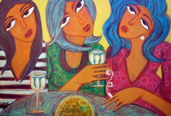 Египетский художник-экспрессионист. Hala el Sharouny 7