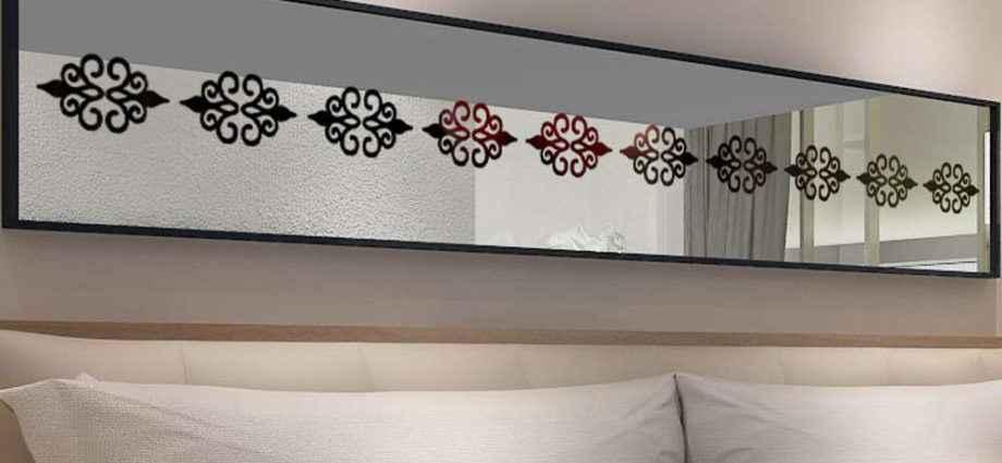 Зеркальные наклейки как уникальный элемент дизайнерского решения 1