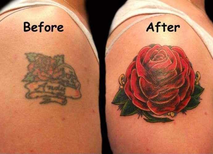 Перекрытие старой татуировки - Cover Up 52