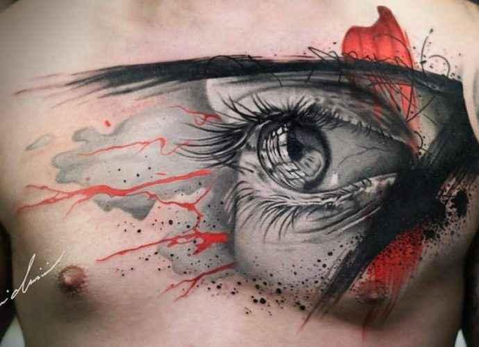 Новый, смелый, сложный и очень творческий стиль. Realistic trash polka (татуировки) 48