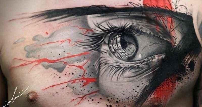 Новый, смелый, сложный и очень творческий стиль. Realistic trash polka (татуировки) 1