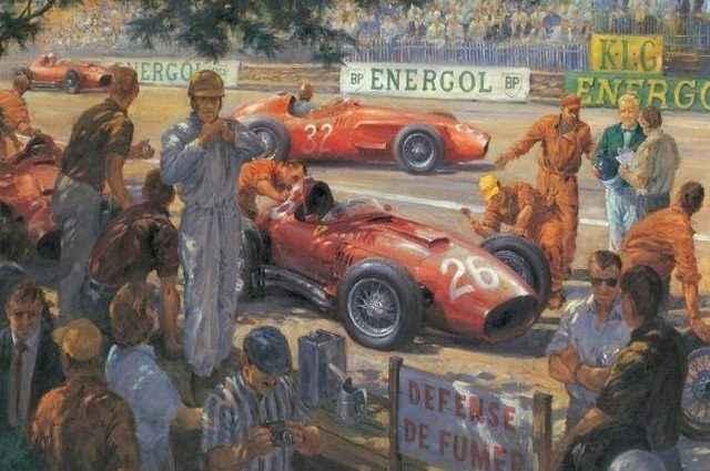 Ретро-автомобили Формулы Один. Alan Fearnley 1