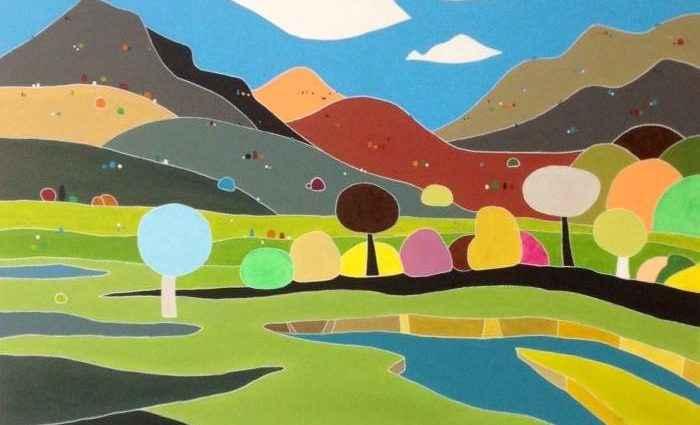 Красочные пейзажи. Alejos Lorenzo 1
