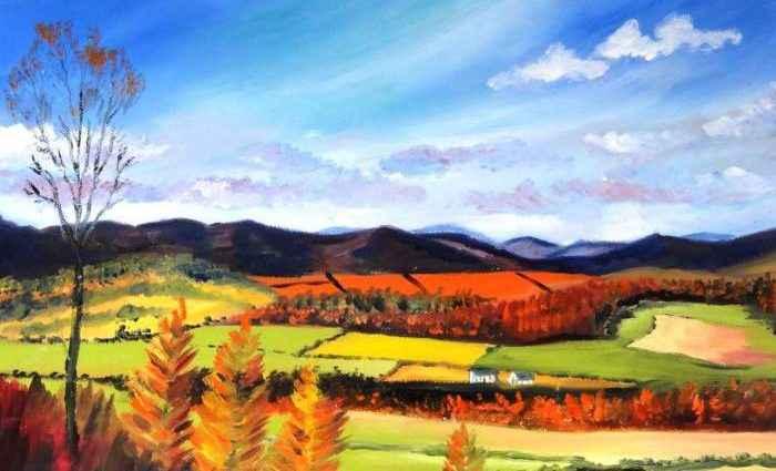 Яркие цвета. Шотландский художник. Alice Stuart 1