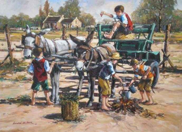 Южноафриканский художник. Andre de Beer 55