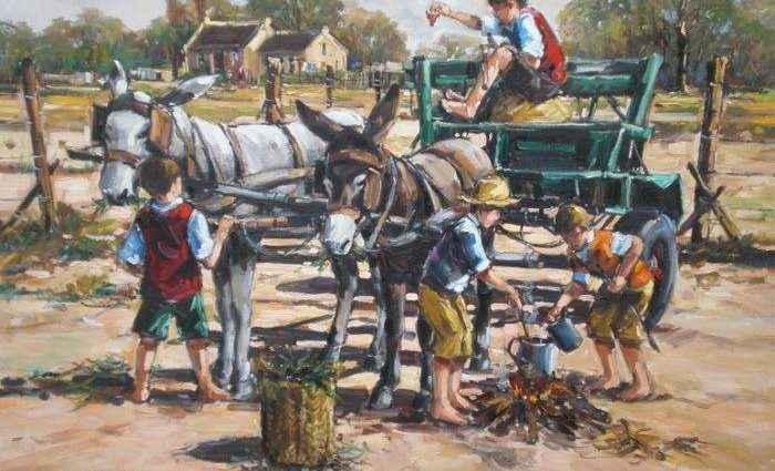 Южноафриканский художник. Andre de Beer 1