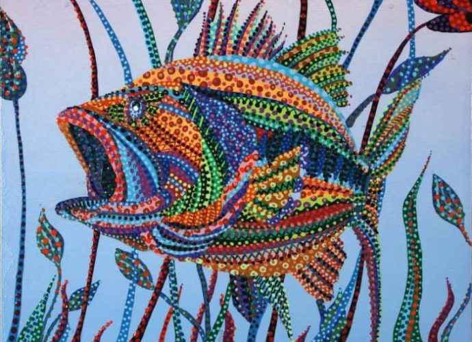 Завеса цветовых пятен. Erika Pochybova 21