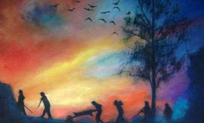 Сочетание живописи и рисунка. Американский художник. Gregg DeGroat 1