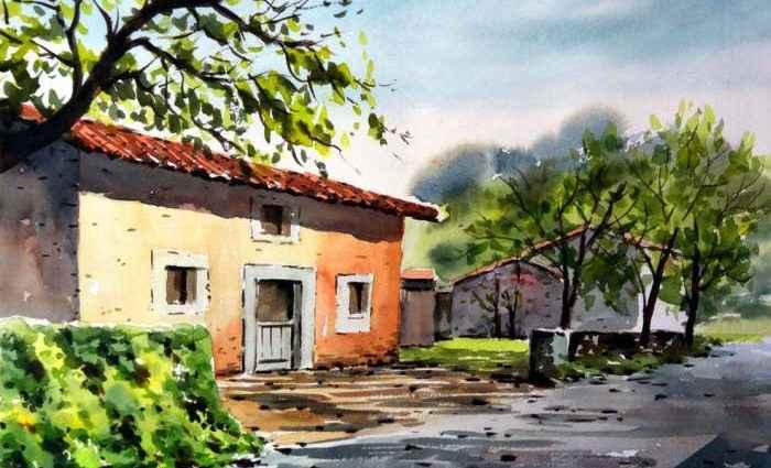 Акварельная живопись. Guillermo Carbajo 1